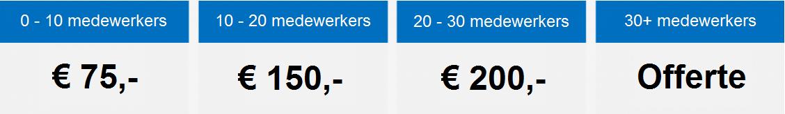 Inrichtingskosten salarisadministratie